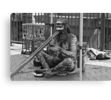 Aborigine Playing Didgeridoo  Canvas Print