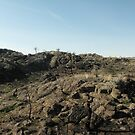 The smiling rock in the basalt flats by Aurora