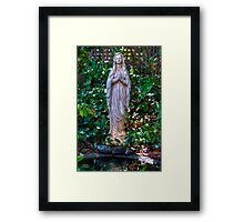 Praying Statue Framed Print