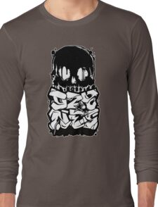 Skull Paint (Black) Long Sleeve T-Shirt
