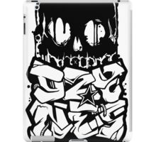 Skull Paint (Black) iPad Case/Skin
