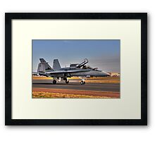 F/A-18 Hornet, A21-4, 77 Squadron, RAAF Williamtown Framed Print