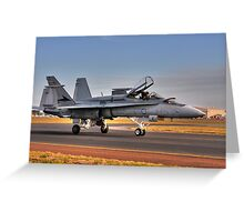 F/A-18 Hornet, A21-4, 77 Squadron, RAAF Williamtown Greeting Card