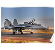 F/A-18 Hornet, A21-4, 77 Squadron, RAAF Williamtown Poster