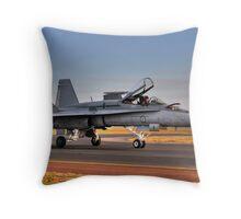 F/A-18 Hornet, A21-4, 77 Squadron, RAAF Williamtown Throw Pillow
