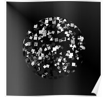 Black & White Sphere of Confetti  Poster