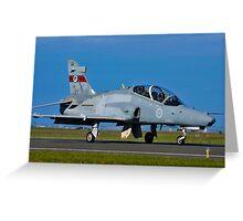 BAe 127 Hawk, A27-22, 76 Squadron, RAAF Williamtown Greeting Card