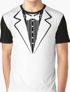Fake Bow Tie, Tuxedo T-shirt Graphic T-Shirt