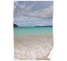 Waves on a Caribbean Beach Poster