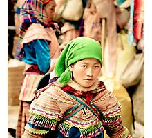 Flower Hmong young lady Photographic Print