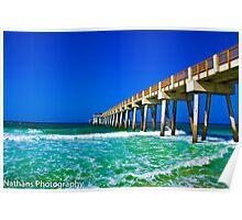 Pier in Panama City Beach, Fl Poster
