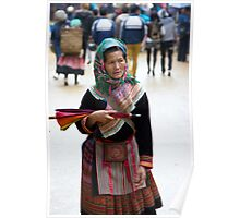 Red Hmong old woman Poster