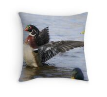 I may be little but I swim with the big boys Throw Pillow