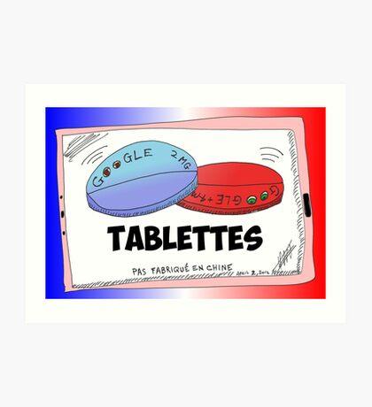 Nouvelles Options Binaires Caricature Tablettes Google Art Print