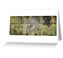 Barbwire fence Greeting Card