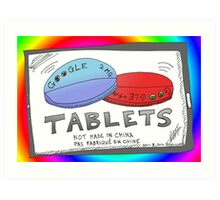 Binary Options News Google Tablets Art Print