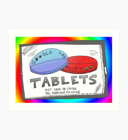 Binary Options News Google Tablets Art Print