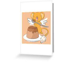 Kero and his dessert Greeting Card