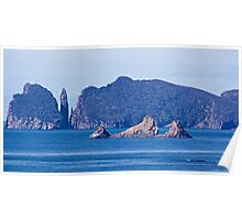 TASMAN PENINSULA ~ BLUE  ~ The Thumbs, Mitre Rock and The Candlestick by tasmanianartist Poster