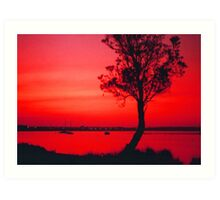 Red Sky at Sunset Art Print