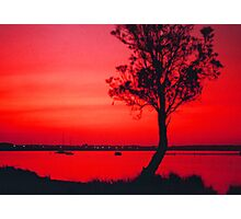 Red Sky at Sunset Photographic Print