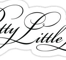 Pretty Little Liars Title - Black Sticker