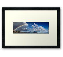 Rainbow Over Maunalua Bay Framed Print