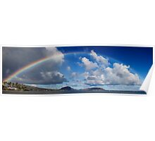 Rainbow Over Maunalua Bay Poster