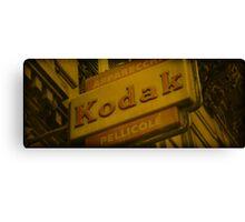 Old Fashioned Kodak Sign Canvas Print