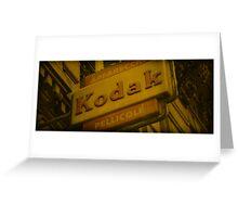 Old Fashioned Kodak Sign Greeting Card