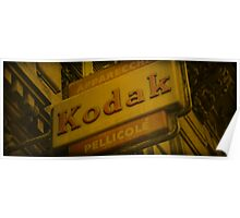 Old Fashioned Kodak Sign Poster