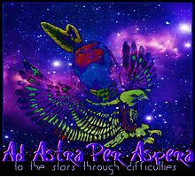 Ad Astra Per Aspera ~ To The Stars Through Difficulties Photographic Print