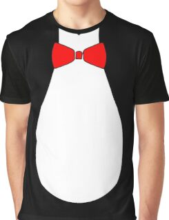 Penguin Style Fake Bow Tie T-shirt Graphic T-Shirt