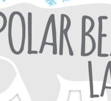Crazy Polar Bear Lady Sticker