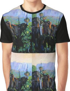 Grass Trees Maroon Dam Graphic T-Shirt