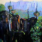 Grass Trees Maroon Dam by Virginia McGowan