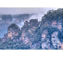 The Three Sisters - The Other Side, Blue Mountains, NSW Photographic Print