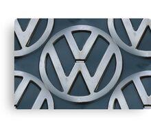 VW Kombi Logo Pattern Canvas Print