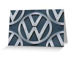 VW Kombi Logo Pattern Greeting Card