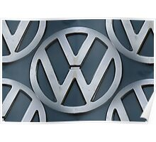 VW Kombi Logo Pattern Poster