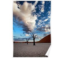 Clouds over Dead Vlei Poster