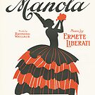 MANOLA (vintage illustration by ART INSPIRED BY MUSIC
