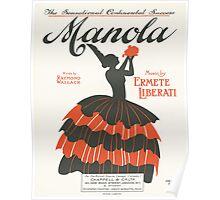MANOLA (vintage illustration Poster