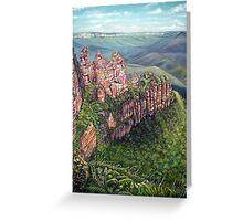 On the Edge, Blue Mountains, Australia Greeting Card