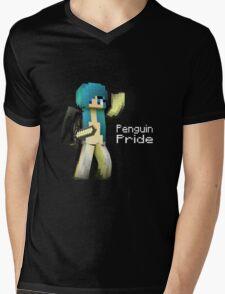 Penguin Pride ^-^ (white text) Mens V-Neck T-Shirt