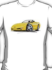Chevrolet Corvette C5 Convertible Yellow T-Shirt