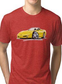 Chevrolet Corvette C5 Convertible Yellow Tri-blend T-Shirt