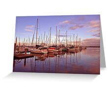 Sunrise at Scarborough Boat Harbour. Brisbane, Queensland, Australia. (3)) Greeting Card