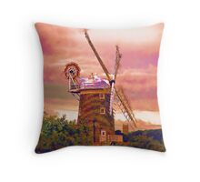 Cley Windmill Norfolk Throw Pillow