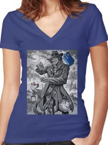 The Fourth Doctor Women's Fitted V-Neck T-Shirt